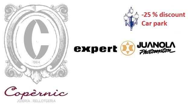 La Farola Collaborations: 25% Discount for customers of 'Jewelry Copèrnic' and 'Juanola photomaton – expert'.